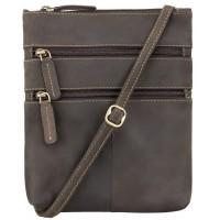 Мужская кожаная сумка Visconti Visconti 18606 Slim Bag Oil Brown