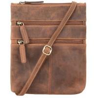 Мужская кожаная сумка Visconti Visconti 18606 Slim Bag Oil Tan