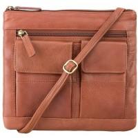 Мужская кожаная сумка Visconti 18608 Slim Bag Brown