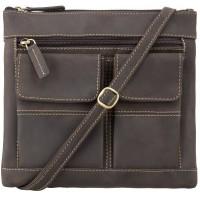 Мужская кожаная сумка Visconti 18608 Slim Bag Oil Brown