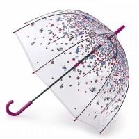 Женский зонт-трость прозрачный Fulton irdcage-2 L042 Tumble Down Petals