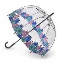 Женский зонт-трость прозрачный Fulton Birdcage-2 L042 Moody Rose Капризная Роза