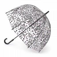 Женский зонт-трость прозрачный Fulton Birdcage-2 L042 Leopard Camo Леопардовый Камуфляж