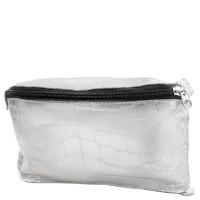 Женская дизайнерская кожаная сумка поясная Gala Gurianoff GG3012-silver