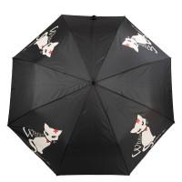 Зонт женский полуавтомат Barbara Vee HDUE-BV-WC100-BK