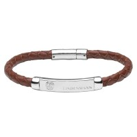 Кожаный браслет Lindenmann 1620 коричневый