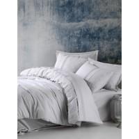 Комплект постельного белья Cotton box ранфорс с вышивкой ELBA GRI