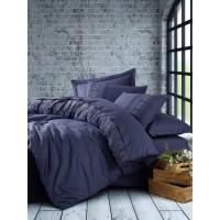 Комплект постельного белья Cotton box ранфорс с вышивкой ELBA LACIVERT