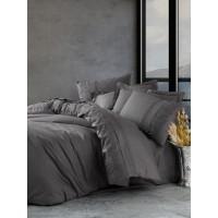 Комплект постельного белья Cotton box ранфорс с вышивкой ENZO ANTRAZIT