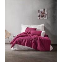 Комплект постельного белья Cotton box Plain BORDO KREM