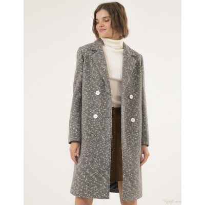 Женское пальто Season Перис светло-серое