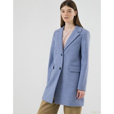Женское полупальто Season Валери голубого цвета