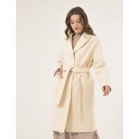 Женское пальто Season Глория молочного цвета