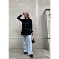 Женское пальто-бушлат Season черное