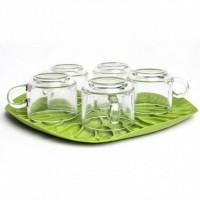 Сушка для посуды - поднос Bai Bua Tray Qualy Зеленая