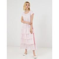 Платье из льна Season Марго-1 с оборками из льна-вуали