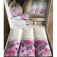 Набор махровых полотенец Do & Co Полевые цветы 30*50 3 шт