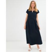 Платье из льна Season Джульетта темно-синее