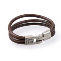 Кожаный браслет Dallaiti BC-23 коричневый