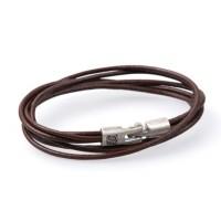 Кожаный браслет Dallaiti ВС-26 коричневый