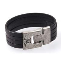 Кожаный браслет Dallaiti BC-29 черный