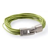 Кожаный браслет Dallaiti ВС39 зеленый