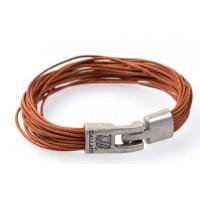 Кожаный браслет Dallaiti ВС39 коричневый