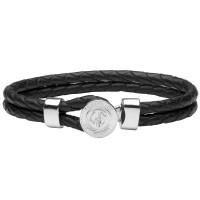 Кожаный браслет Lindenmann 1619 черный