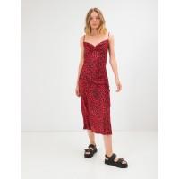 Стильный длинный сарафан Season из шелка и вискозы красное