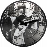Часы настенные NeXtime Kiss me in New York