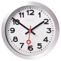 Часы настенные NeXtime Station Number белые