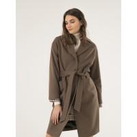 Женское пальто Season Глория оливкового цвета