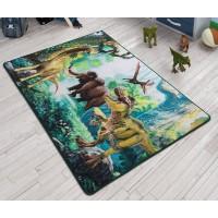 Коврик в детскую комнату Confetti Dinosaur Yesil 100x150