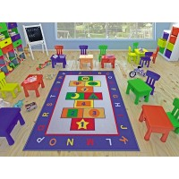 Коврик в детскую комнату Confetti Game Mavi 100x150