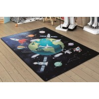 Коврик в детскую комнату Confetti Outer Space Lacivert 100x150