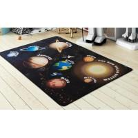 Коврик в детскую комнату Confetti Planets Siyah 100x150