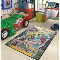Коврик в детскую комнату Confetti Race Yesil 100x150