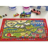 Коврик в детскую комнату Confetti Railway Kirmizi 100x150
