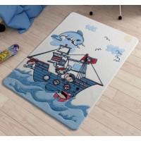 Коврик в детскую комнату Confetti Smiley Dolphin Blue 100x150