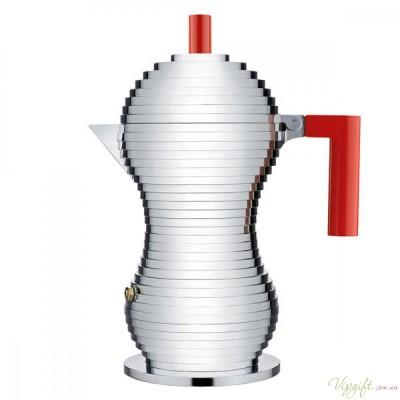 Гейзерная кофеварка для эспрессо Pulcina Alessi Красная