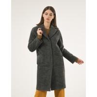 Зимнее женское пальто Season Глория альпака малахит