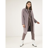 Зимнее женское пальто Season Глория альпака лиловое