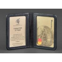 Кожаная обложка BlankNote для ID-паспорта и водительских прав 4.0 синяя