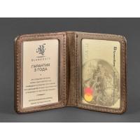 Кожаная обложка BlankNote для ID-паспорта и водительских прав 4.0 орех