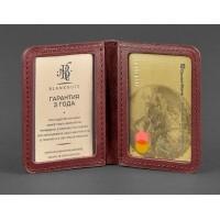 Кожаная обложка BlankNote для ID-паспорта и водительских прав 4.0 виноград