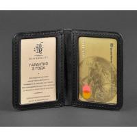 Кожаная обложка BlankNote для ID-паспорта и водительских прав 4.0 графит