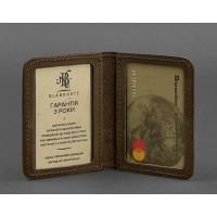 Кожаная обложка BlankNote для ID-паспорта и водительских прав 4.0 орех карбон