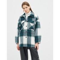 Женская рубашка-пальто Season в клетку зеленая