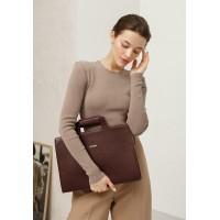 Кожаная сумка для ноутбука и документов BlankNote бордовая