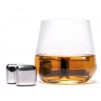 Камни кубики для виски металл 4 шт в подарочной коробке Decanto 980020